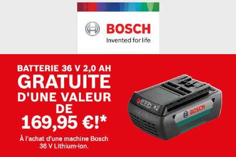 Batterie gratuite chez Bosch