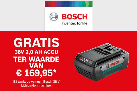 Accu gratis bij Bosch
