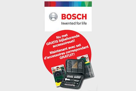 Gratis bijbehorende accessoires bij Bosch