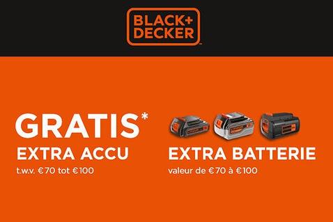 Extra batterie gratuite chez Black+Decker