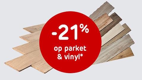 -21% op parket en vinyl vloeren enkel bij Kraainem, Oudergem en Drogenbos