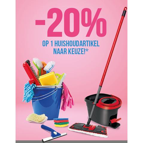 -20%* op 1 huishoudartikel naar keuze