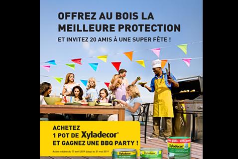 Gagnez une fête barbecue grâce à Xyladecor d'une valeur de €1000