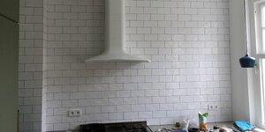 Mur carrelé dans la cuisine