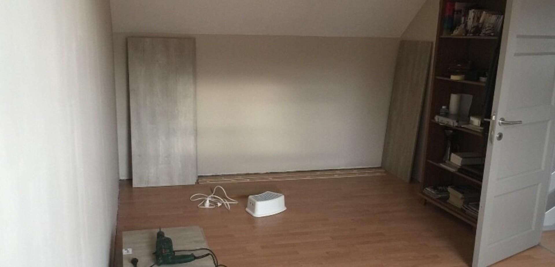 fabriquer un meuble de rangement dans une chambre mansard e pour les makers. Black Bedroom Furniture Sets. Home Design Ideas