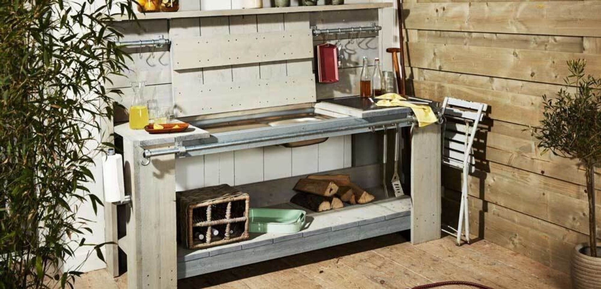 Cr er une cuisine d t ext rieure pour les makers for Cuisine d ete exterieure