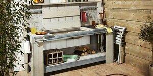 une cuisine ext rieure en bois d chafaudage pour les makers