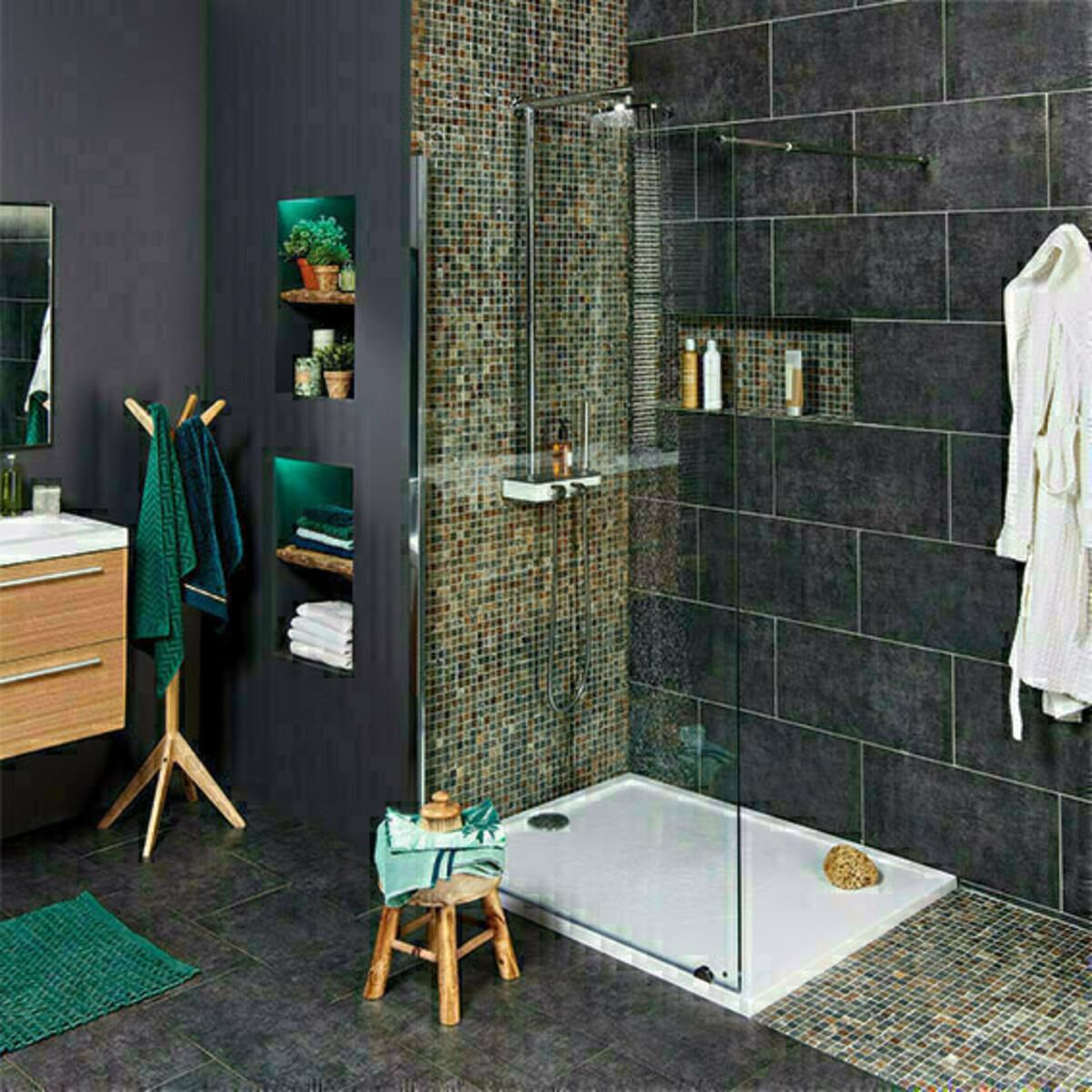 Construire Une Douche Italienne Pour Les Makers - Carrelage salle de bain et linie design tapis
