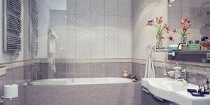 Moderne badkamer met strak design