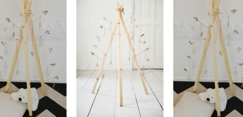 Je eigen wigwam kerstboom maken