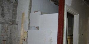 Boucher une baie de porte en maçonnerie