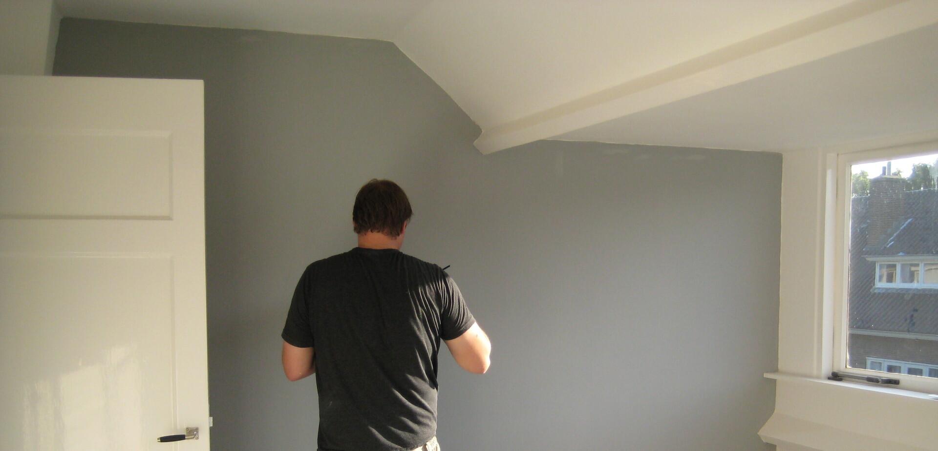 repeindre sur du papier peint pour les makers. Black Bedroom Furniture Sets. Home Design Ideas