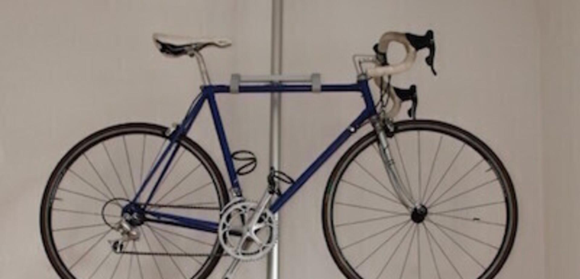 Accroche Velo pour porte-vélo avec des pièces de chez brico et ikea - pour les makers