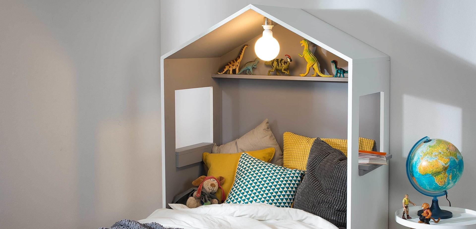 t te de lit cabane pour les makers. Black Bedroom Furniture Sets. Home Design Ideas