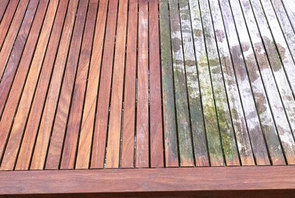 Comment nettoyer au mieux le teck qui habille mon balcon?