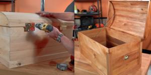 Maak een kist van oud parket