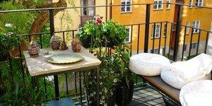 Plancher extérieur en bois pour le balcon
