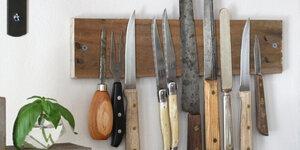 Support à couteaux fait maison