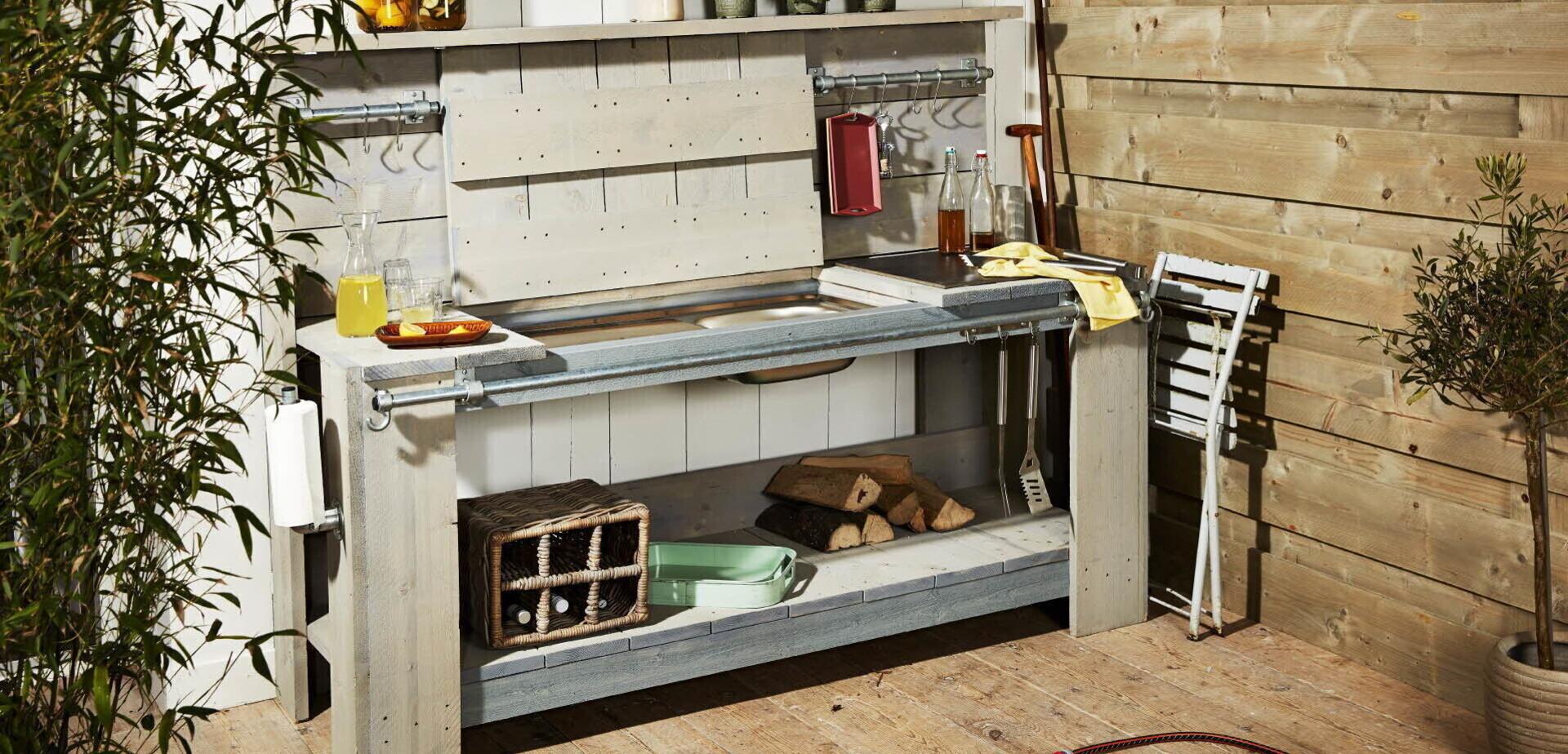 Buitenkeuken maken voor de makers for Eigen keuken bouwen