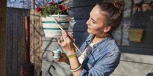 Réalisez vos pots de fleurs à suspendre