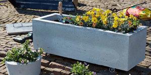Réalisez une jardinière en béton