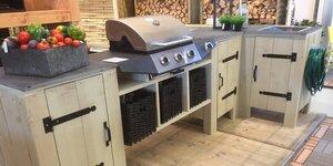 Buitenkeuken van steigerhout (barbecuemeubel)