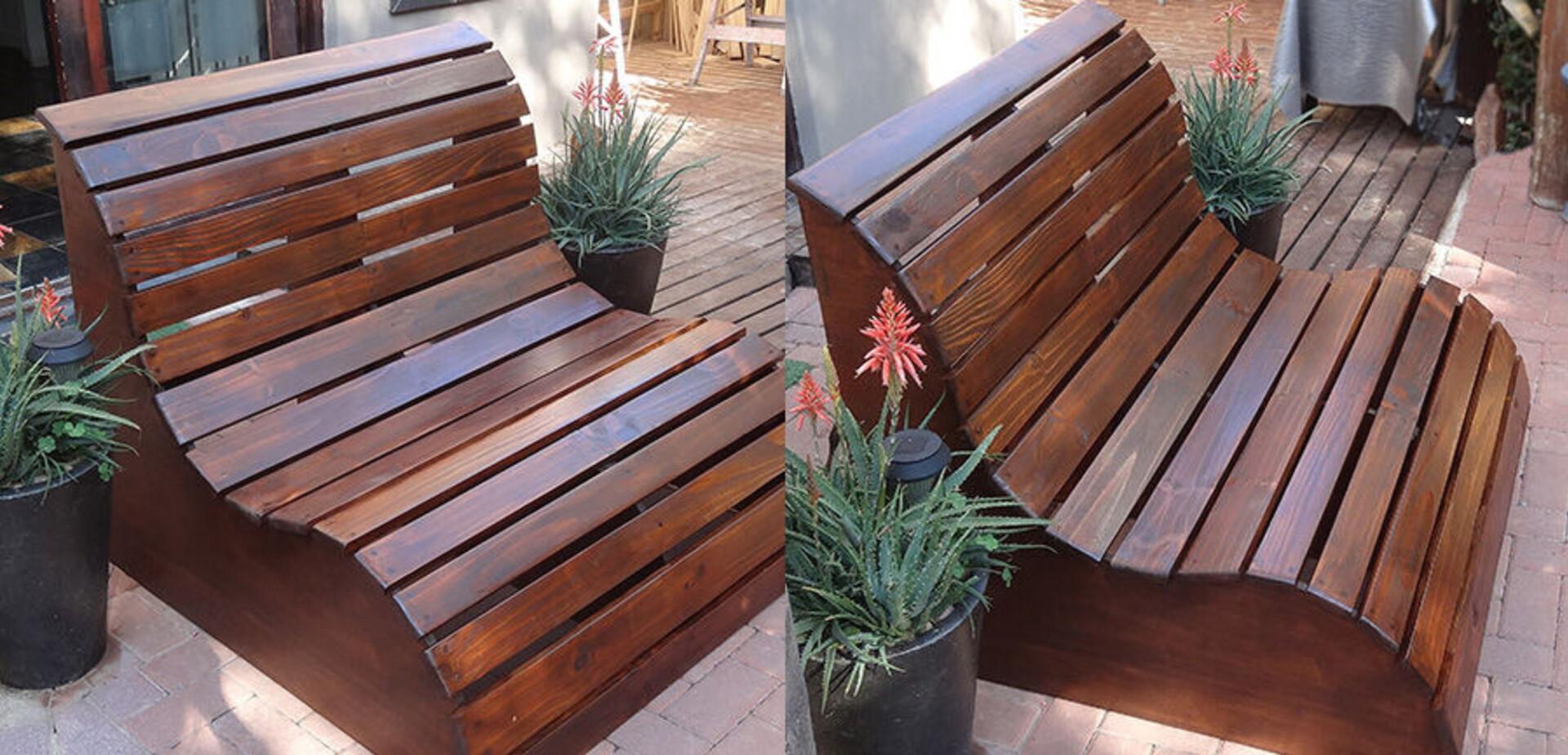 un banc pour la terrasse pour les makers. Black Bedroom Furniture Sets. Home Design Ideas