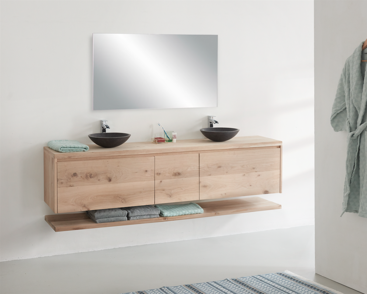 Eiken badkamermeubel maken - Brico   Voor de makers