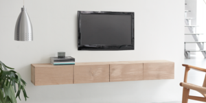 Fabriquez un meuble de TV design en bois de chêne