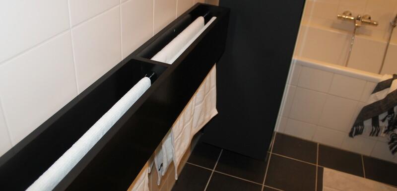 Handdoekenrek maken voor in de badkamer