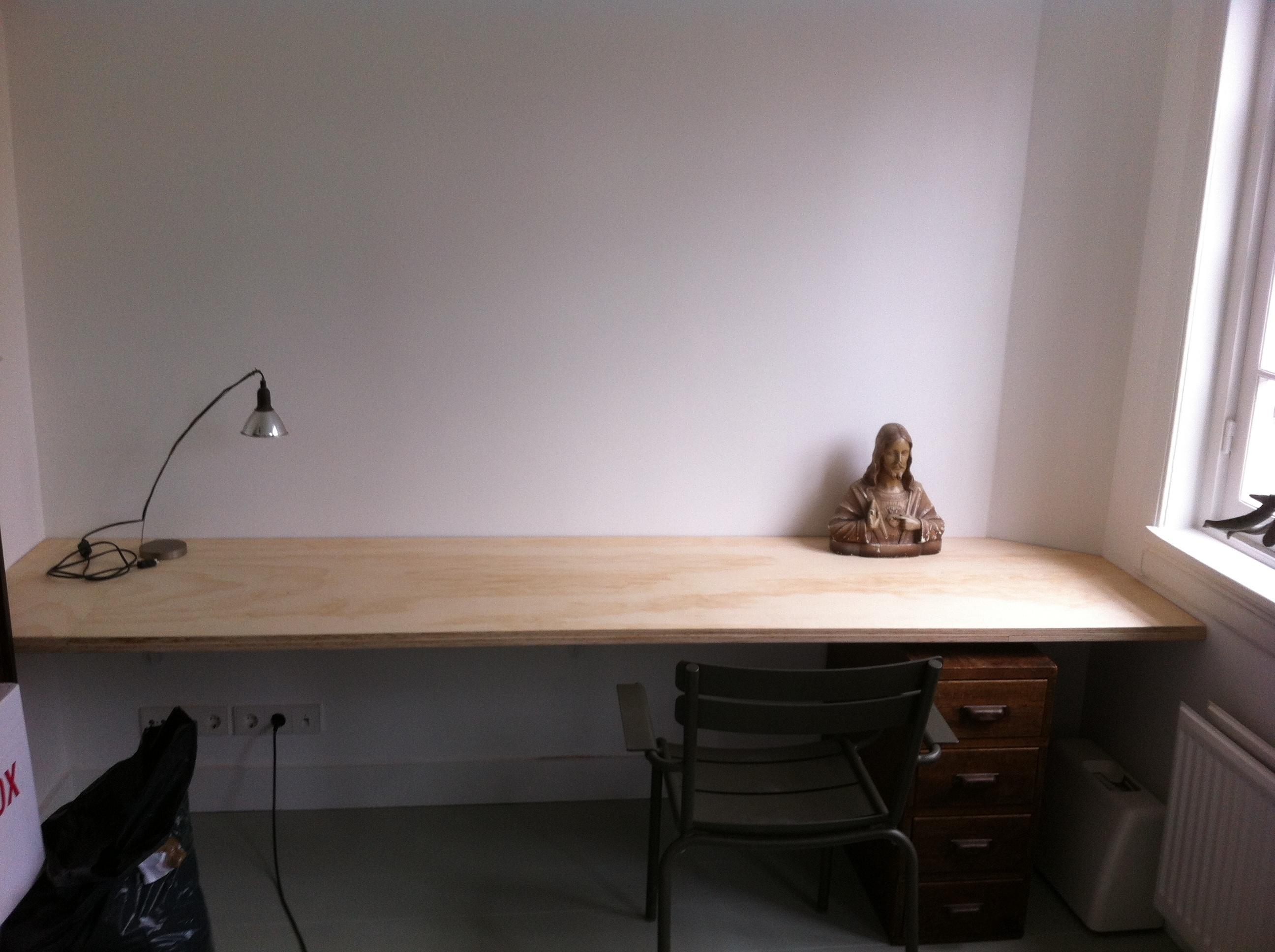 Zwevend Bureau Maken : Bureaublad maken brico voor de makers