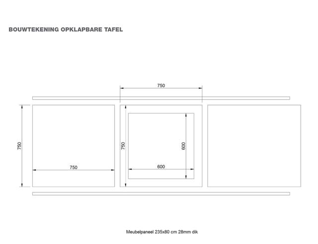 Een opklapbare spiegel tafel maken voor de makers for Opklapbare tafel