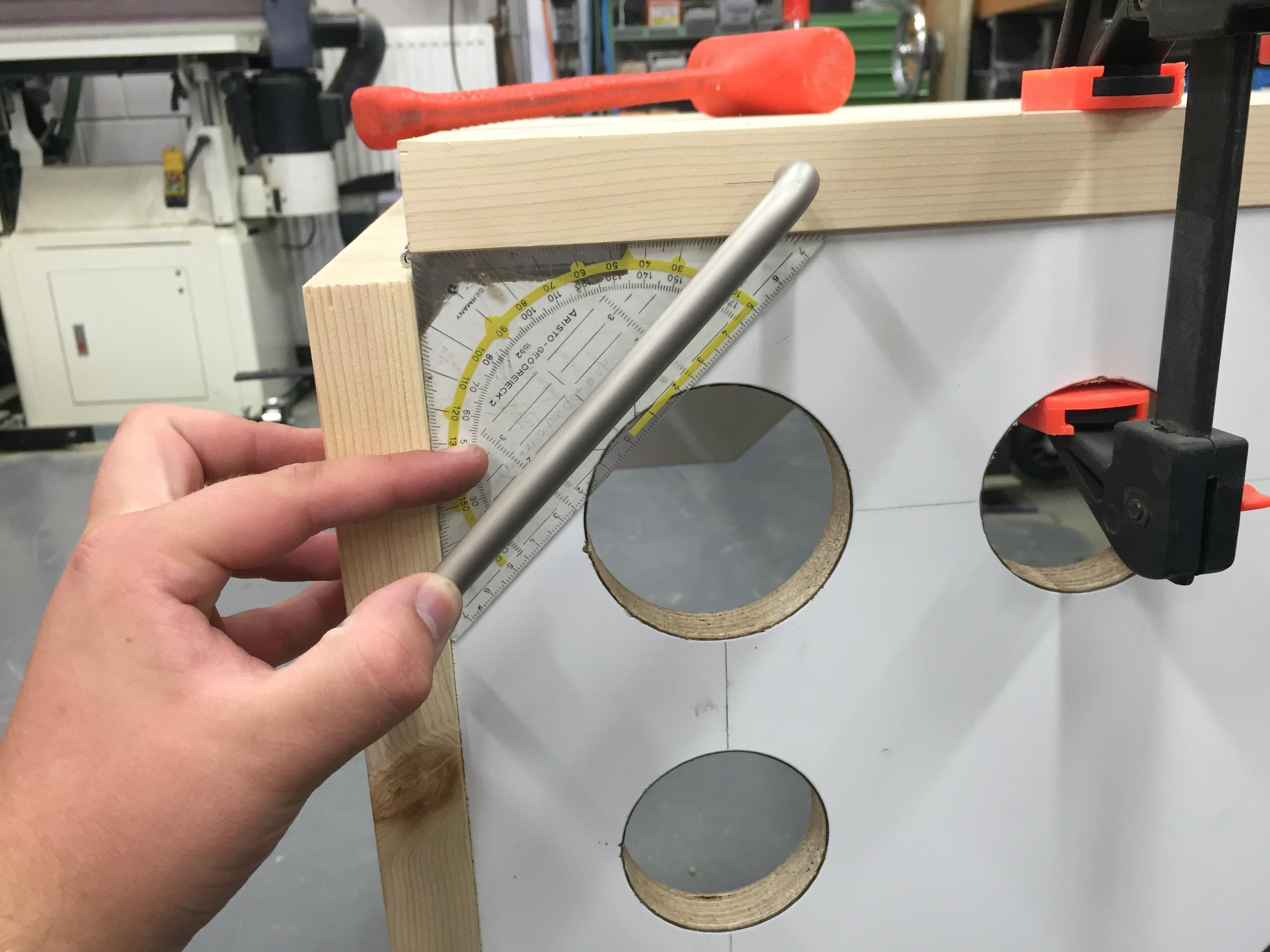 R aliser une table miroir repliable pour les makers for 2 miroirs perpendiculaires